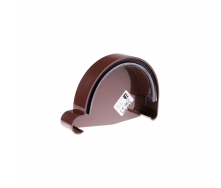 Заглушка желоба правая Profil Р 90 мм  коричневая