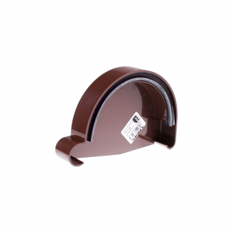 Заглушка желоба правая Profil Р 130 мм коричневая