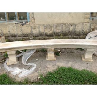 Садовая скамейка из песчаника Монолит-ВВ М100 F25