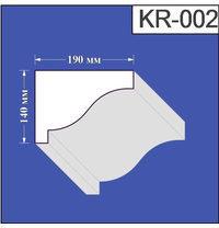 Карниз из пенополистирола Валькирия 190х140 мм (KR 002)