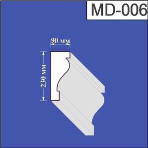 Молдинг з пінополістиролу Валькірія 90х230 мм (MD 006)
