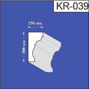 Карниз з пінополістиролу Валькірія 150х300 мм (KR 039)