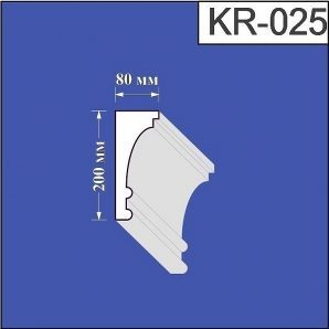 Карниз з пінополістиролу Валькірія 80х200 мм (KR 025)