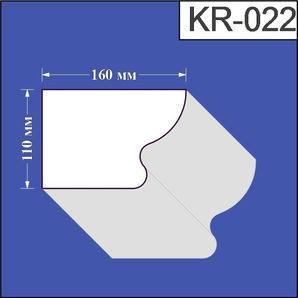 Карниз з пінополістиролу Валькірія 160х110 мм (KR 022)
