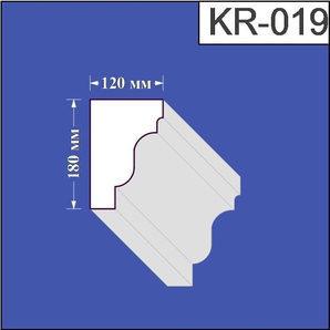 Карниз з пінополістиролу Валькірія 120х180 мм (KR 019)