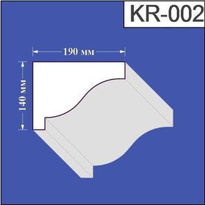 Карниз з пінополістиролу Валькірія 190х140 мм (KR 002)