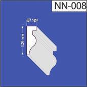 Наличник из пенополистирола Валькирия 40х120 мм (NN 008)