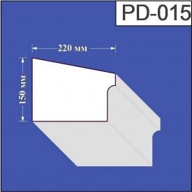 Подоконник из пенополистирола Валькирия 220х150 мм (PD 015)