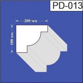 Подоконник из пенополистирола Валькирия 200х180 мм (PD 013)