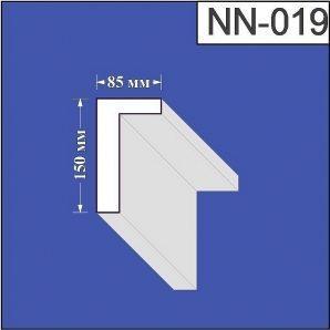 Наличник з пінополістиролу Валькірія 85х150 мм (NN 019)