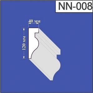 Наличник з пінополістиролу Валькірія 40х120 мм (NN 008)