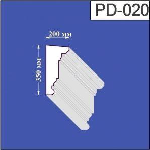 Підвіконня з пінополістиролу Валькірія 200х350 мм (PD 020)