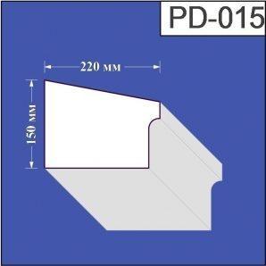 Підвіконня з пінополістиролу Валькірія 220х150 мм (PD 015)
