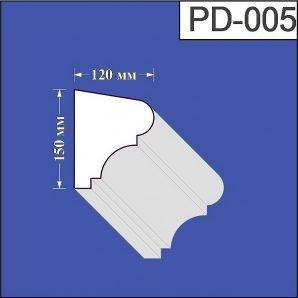 Підвіконня з пінополістиролу Валькірія 120х150 мм (PD 005)