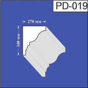 Підвіконня з пінополістиролу Валькірія 270х340 мм (PD 019)