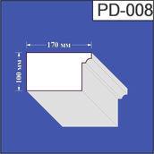 Підвіконня з пінополістиролу Валькірія 170х100 мм (PD 008)
