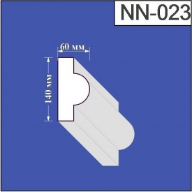 Наличник из пенополистирола Валькирия 60х140 мм (NN 023)