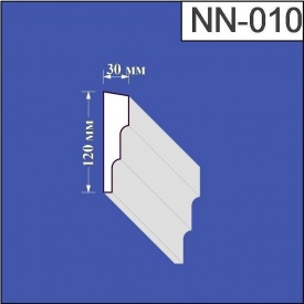 Наличник из пенополистирола Валькирия 30х120 мм (NN 010)