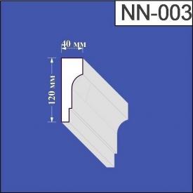 Наличник из пенополистирола Валькирия 40х120 мм (NN 003)