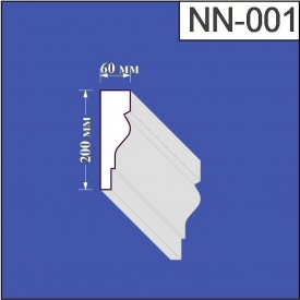 Наличник из пенополистирола Валькирия 60х200 мм (NN 001)
