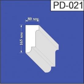 Подоконник из пенополистирола Валькирия 80х165 мм (PD 021)