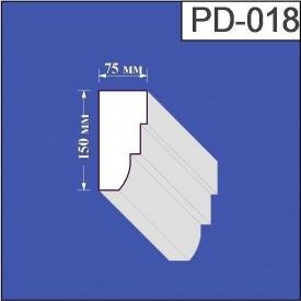 Подоконник из пенополистирола Валькирия 75х150 мм (PD 018)