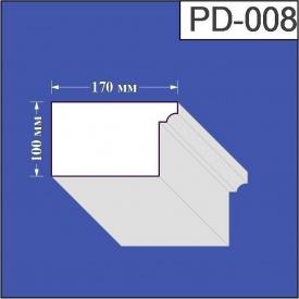 Подоконник из пенополистирола Валькирия 170х100 мм (PD 008)