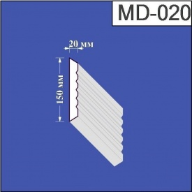 Молдинг из пенополистирола Валькирия 20х150 мм (MD 020)