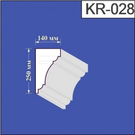 Карниз из пенополистирола Валькирия 140х250 мм (KR 028)