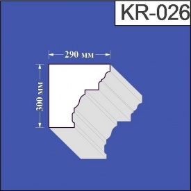 Карниз из пенополистирола Валькирия 290х300 мм (KR 026)