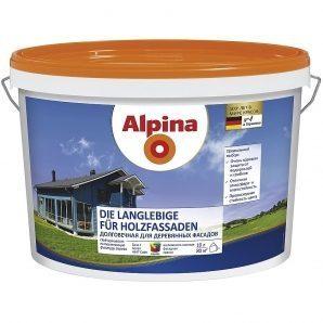 Фасадна фарба Alpina Die Langlebige fur Holzfassaden 2,5 л