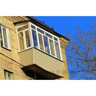 Облаштування даху над балконом з шиферу Ондулін