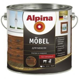 Лак Alpina Mоbel 2,5 л