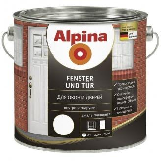 Эмаль Alpina Fenster und Tur 2,5 л