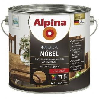 Лак Alpina Aqua Mоbel 2,5 л