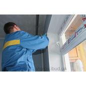 Монтаж укосів з сендвіч панелей на вікно 1,350х1,370х280 мм