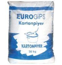 Гипсовая штукатурка EUROGIPS Kartonpiyuer 30 кг белая