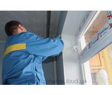 Монтаж откосов из сэндвич панелей на окно 1,350х1,370х280 мм