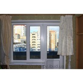 Монтаж пластиковых откосов на балконный блок 1,550х1,400х2,150х280 мм