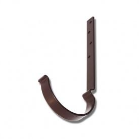 Тримач жолобу Акведук Преміум короткий 125 мм 160 мм коричневий RAL 8017