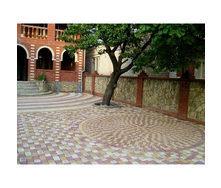 Мощение тротуарной плитки с узором