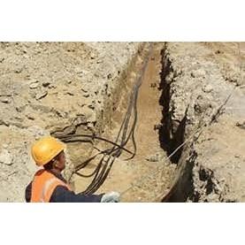 Копание траншей под кабель с обратной засыпкой