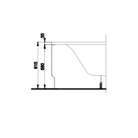 Панель універсальна для ванни KOLO SPRING 160 мм