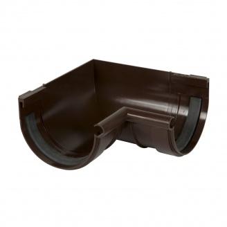 Кут ринви внутрішній 90° Nicoll 25 ПРЕМІУМ на гумових ущільнювачах 115 мм коричневий