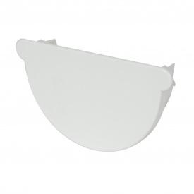 Заглушка воронки універсальна Nicoll 25 ПРЕМІУМ на резиновых уплотнителях білий