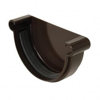 Заглушка ринви універсальна Nicoll 25 ПРЕМІУМ на гумових ущільнювачах коричневый