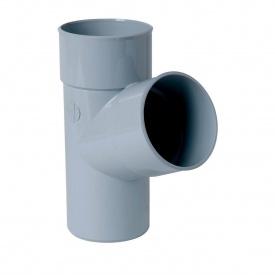 Трійник Nicoll 33 100 мм сірий