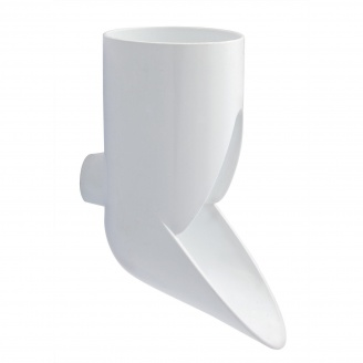 Відвід зливний декоративний Nicoll 29 VODALIS 100 мм білий