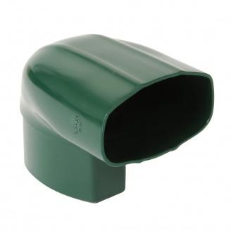 Відвід Nicoll 28 OVATION 90° 80 мм зелений