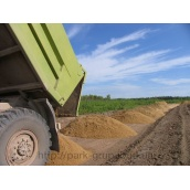 Влаштування песчанной основи 10 см